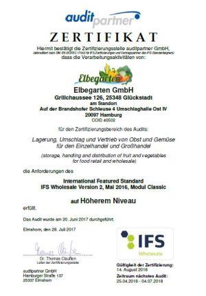 IFS Zertifikat 2017